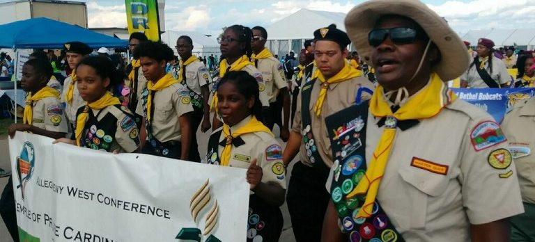 TOP Pathfinders matching at Oshkosh, Wisconsin camporee