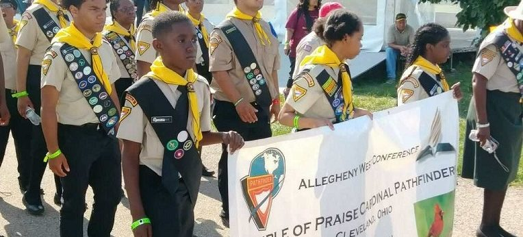 TOP Pathfinders matching at Oshkosh 2019 international  camporee